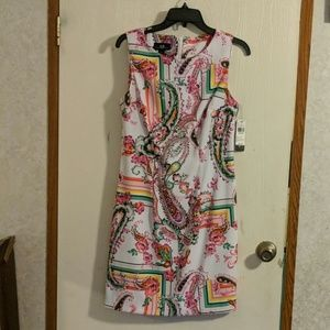 AGB floral paisley patterned dress